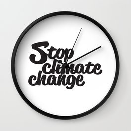 Stop Climate Change Wall Clock