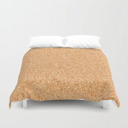 Cork board Duvet Cover