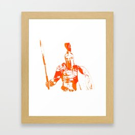 Battleborn, Spartan warrior Framed Art Print