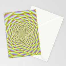 Spiral Weave in Yellow and Violet Stationery Cards