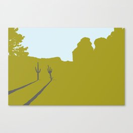 Two Cacti Canvas Print