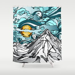 Turquoise Sky Shower Curtain