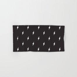 Lightning Bolt Pattern Black & White Hand & Bath Towel