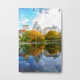 City's Autumn Metal Print