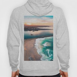 Sky view for the beach in the sunset Hoody