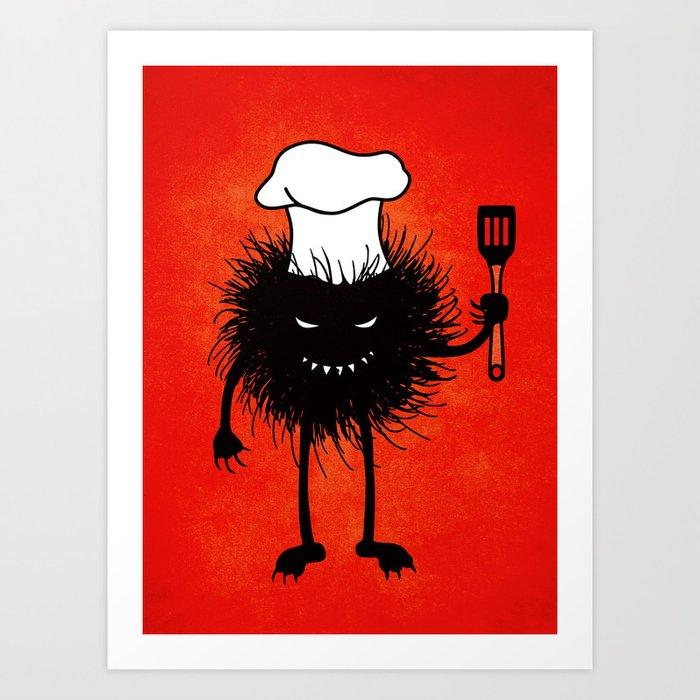 Evil Bug Chef Loves To Cook Art Print