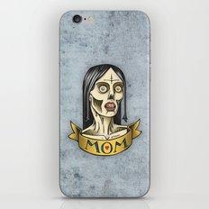'Mom' Zombie Tattoo print iPhone & iPod Skin