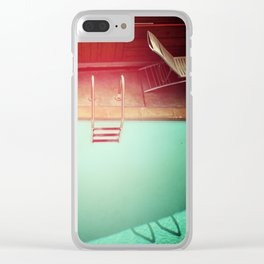Summer Swimming Clear iPhone Case