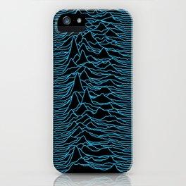 Joy Division - Unknown Pleasures [Blue Lines] iPhone Case