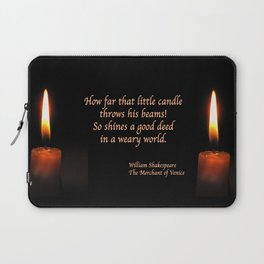 Shakespeare Candle Flame Laptop Sleeve