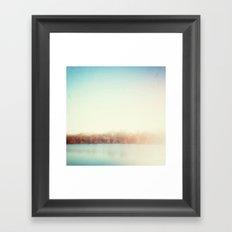 the edge of winter Framed Art Print