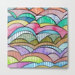 Colourful Landscape Stripes Metal Print