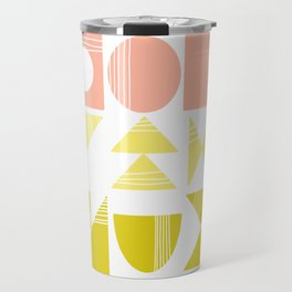 Organic Abstract Shapes in Soft Pastel Colors Travel Mug