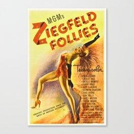 1946 Vintage Ziegfeld Follies Movie Theater Poster Canvas Print