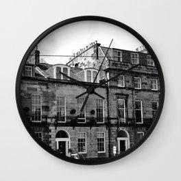 Edinburgh, Scotland Quaint City Homes Wall Clock