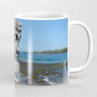 tiki Mugs featuring Tiki by courtney2k ⚓ design™