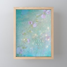 Spread Magic | Sparkling Fairy Flowers Framed Mini Art Print