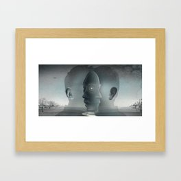 East and West Framed Art Print