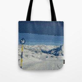Cross Stitch Skiing Tote Bag
