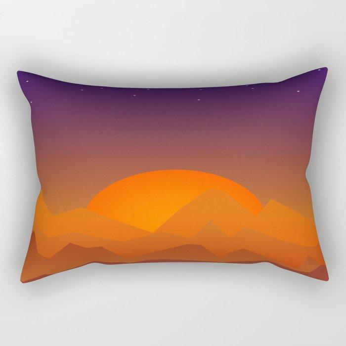 Slumbering Hills, Southwestern Landscape Art Rectangular Pillow