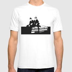 Blues Brothers Mens Fitted Tee LARGE White