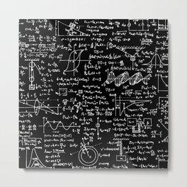Physics Equations on Chalkboard Metal Print