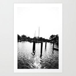 Whiteout: Dock Art Print