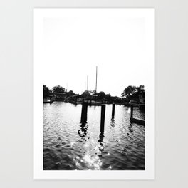 Whiteout: Dock Art Print