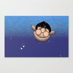 Take it all off and have a swim!!!! Canvas Print