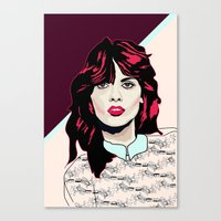 80s Canvas Prints featuring 80s Pink by Anna McKay