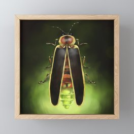 Lightning Bug - Firefly Framed Mini Art Print