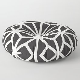 black & white geometric pattern middle eastern Moroccan art deco pattern Floor Pillow