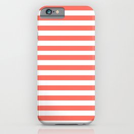 LIVING CORAL HORIZONTAL STRIPES PANTONE COLOR OF THE YEAR 2019 iPhone Case