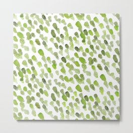 Imperfect brush strokes - olive green Metal Print