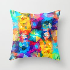 Twirled Triangles Throw Pillow