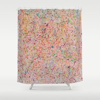 sprinkles Shower Curtains featuring Sprinkles by Candy Circles