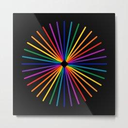Spectrum Starburst Metal Print