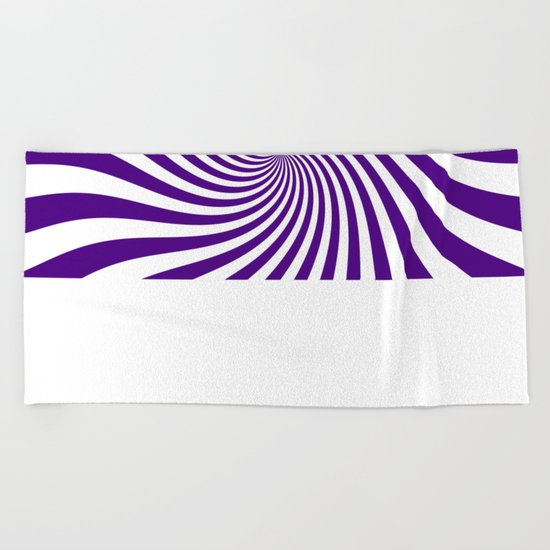 Swirl (Indigo/White) Beach Towel