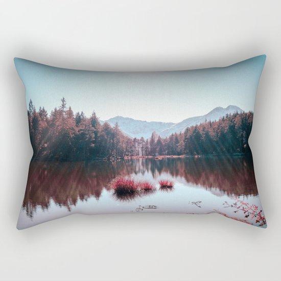Winter Lake Rectangular Pillow