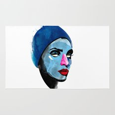 Woman's head Rug