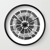 planet Wall Clocks featuring planet by mishart