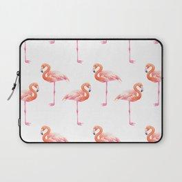 Flamingos watercolor pattern Laptop Sleeve