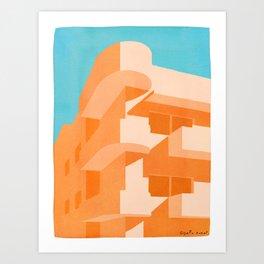 Orange Bauhaus Art Print