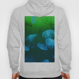 Moon Jellyfish - Blue and Green Hoody