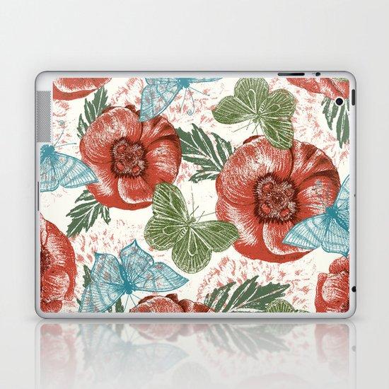 Poppies and Butterflies Pattern Laptop & iPad Skin