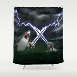 Shark vs. Narwhal  Shower Curtain