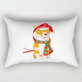 Christmas Corgi - Ornament Christmas Rectangular Pillow