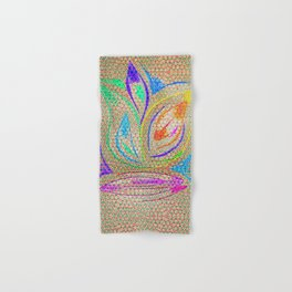 Colorful Lotus flower - uma releitura Hand & Bath Towel