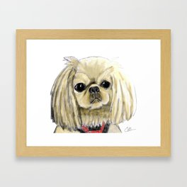 Cartoon dogs Li Li the Pekingese Framed Art Print