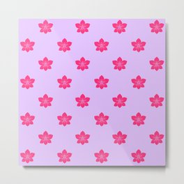 Pink orchid pattern Metal Print